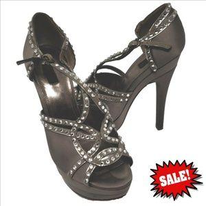 Joan & David Davicky Crystal Studs Platform Heels